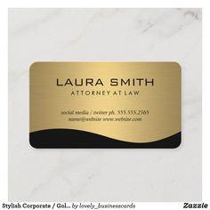 Stylish Corporate / Gold Metallic Business Card