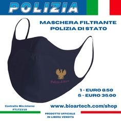 Maschera filtrante ufficiale in libera vendita da Bioartech Sport