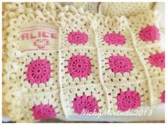 Crochet blanket with name!