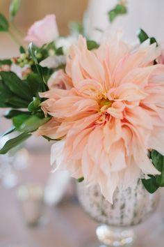 dahlia peach Wedding Inspiration - Style Me Pretty