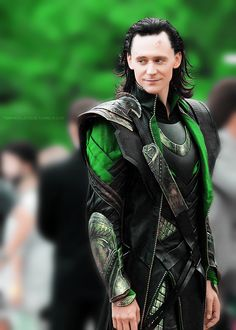 Green has always been my favorite color, and having it be associated with Loki makes me love it even more.