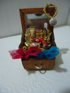 miniature make up furniture with accessories 112 scale by MINISSU, $15.99