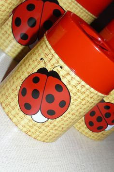 Vintage Canisters     SALE by CleverGirlVintage on Etsy, $23.95