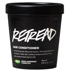 Retread conditioner - Retread is our super-smoothing conditioning cream that gives sad hair its shine and bounce back. Use it when your hair is feeling absolutely wrecked. This rich conditioner makes your hair look better, but more importantly, it moisturizes and feeds your hair the nutrients it needs. We use a blend of softening and hydrating ingredients, including seaweed, lanolin, fresh canteloupe and protein-rich yoghurt and soya milk to strengthen locks. Then we blend in olive, jojoba…