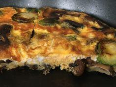 Simplesmente...viver: Omelete de cogumelos e couves de Bruxelas