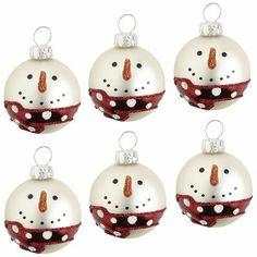 Snowman Ornament Set