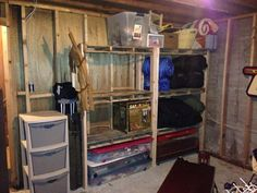 Picture of Wood Pallet Storage Shelving CHEAP! Build a Shed With Pallets - Hidden Secret to Free Qua Diy Garage Shelves, Storage Shelves, Shelving, Pallet Storage, Pallet Shelves, Wood Shelf, Recycled Pallets, Wooden Pallets, Recycled Wood