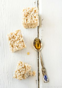 Salted Honey Rice Krispies Treats by raspberri cupcakes, via Flickr.