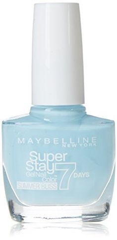 Designed to give good colour and coverage; Special formula of calcium, iron and silica; Designed with tough finish; Provides a good look; Product of Maybelline. Product Features Maybelline SuperStay 7 Days gel nail polish – 874 Sea Sky – 10 ml 874 Sea Sky. Gel Nail Polish, Gel Nails, Maybelline Superstay, Perfume Bottles, Iron, Sky, Colour, Gel Nail, Heaven