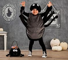 Shop Halloween costumes for kids at Pottery Barn Kids. Discover quality character costumes, animal costumes and more. Last Halloween, Diy Halloween Costumes For Kids, Halloween Spider, Halloween Activities, Craft Activities For Kids, Kid Costumes, Halloween 2017, Kids Crafts, Baby Spider Costume