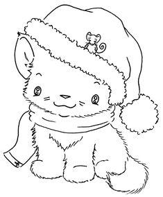 Sliekje digi Stamps: Winter Kitten