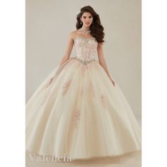 Quinceanera Dresses – Vizcaya Gown Dress Style 89086 ❤ liked on Polyvore featuring dresses and gowns
