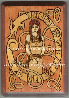 Thrud, by DebsDen. The runes read: 'Hail Thrud - Daughter of Thor and Sif.'