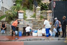 SOUTH AFRICA, Cape Town - Cape Town -Panic and blame as Cape Town braces for water shut-of - January In the Cape Town suburb of St. James, a line to collect drinking water from an underground spring. Cape Town, The Fresh, Fresh Water, North West Province, Water Scarcity, Le Cap, Run Out, Make It Rain, World Cities