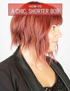 DIY Hair Styles: A Chic, Shorter Bob