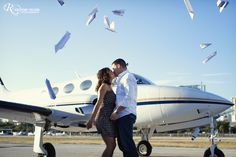 paper airplanes + real airplanes = awesome engagement session. Is super cute but the girls standing weird