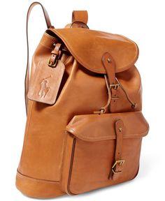 Polo Ralph Lauren Men s Leather Drawstring Backpack Leather Backpack For  Men, Leather Backpacks, Men s 63d002791c