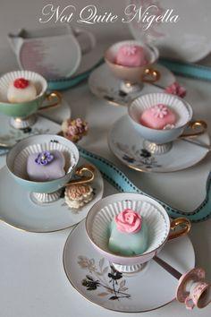 Vintage china teacups have so many uses for entertaining. Rent at www.vintagedishrental.com