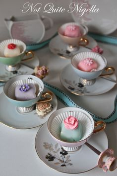 Vintage china teacups have so many uses for entertaining. Rent at www.vintagedishrental.com