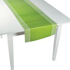 Green Chevron Table Runner - Tables looking good. OrientalTrading.com