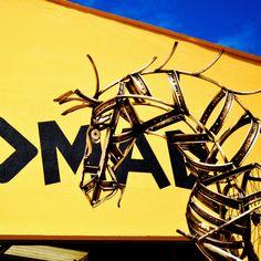 Nos encanta esta foto de nuestro caballo hecho con piezas de bicicleta.