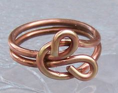 Infinity Love Knot Wire Wrapped Antiqued Copper