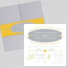 Sleek Simplicity Pocket Style Wedding Invitations. Absolutely love these...