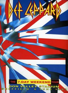 Def Leppard - Seven Day Weekend Don Valley Tour Programme