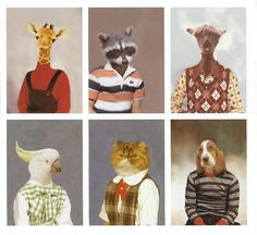Even animals had their mothers dress them in ugly clothes for picture day! We are not alone.