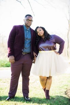 Stylish Modern Engagement Shoot in Purple | Coley & Co Photography on @prettypearbride via @aislesociety