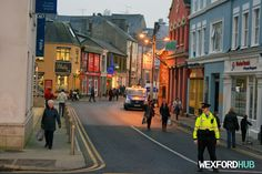 A member of the An Garda Síochána controls traffic at Common Quay Street in…