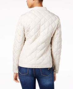Charter Club Quilted Hardware-Detail Jacket, Created for Macy's - Tan/Beige XXL