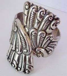 Vintage Taxco Mexican Silver Clamper