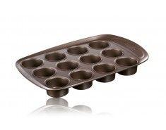 Pyrex asimetriA Moule à 12 muffins en métal avec prise en main facile