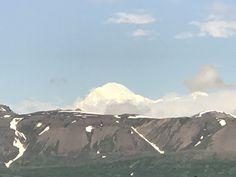 Denali Mountain from train ride