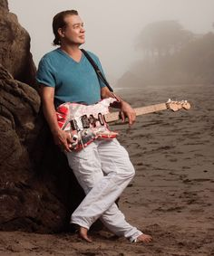 Guitar Aficionado Magazine featuring Eddie Van Halen in a special issue from December 2013 - Here, Eddie is serene & relaxed with Frankenstein - a strong force....