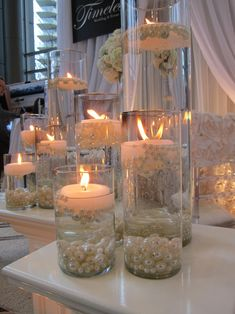 Summer Water Wedding Centerpiece Ideas 15