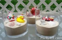 Fun Christmas in July Party Centerpiece made with ornaments, shells, sand and glass vases. Fun Christmas in July Party Centerpiece made with ornaments, shells, sand and glass vases. Christmas In July Decorations, Christmas Party Themes, Xmas Party, Christmas Centerpieces, Christmas Birthday, Holiday Parties, Summer Christmas, Tropical Christmas, Christmas 2019