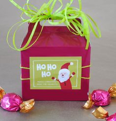 Holiday Gift Idea - Christmas Party Favor Personalize your own labels and stickers at www.bottleyourbrand.com