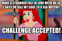 Dear Justin Bieber,  Ariel would really love her voice back.  Sincerely, King Triton