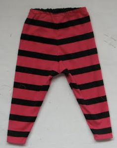 Skinny toddler pants pattern for stretchy pants or leggings (free PDF).