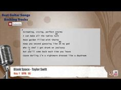Blank Space - Taylor Swift Vocal Backing Track with chords and lyrics