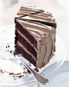 Chocolate Cake with Caramel-Milk Chocolate Frosting