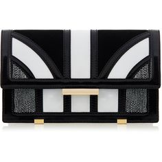 Aperlai Black and White Leather Bag (13 845 UAH) ❤ liked on Polyvore featuring bags, handbags, shoulder bags, clutches, white, leather shoulder bag, black and white purse, black and white handbags, leather purses and leather hand bags