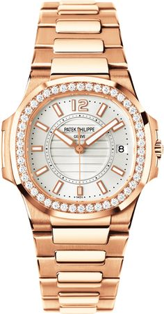 7010/1R-001 Patek Philippe Nautilus Womens 18K Rose Gold Watch | WatchesOnNet.com