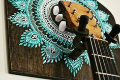 guitar holder, guitar gift, boho home decor, instrument holder, guitar wall hanger by OurFolkLife on Etsy https://www.etsy.com/listing/221758630/guitar-holder-guitar-gift-boho-home