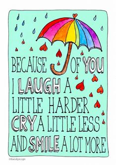 Liefde kaart - Vriendschapskaart - because-of-you-i-smile-a-lot-more Grandma Quotes, Son Quotes, Great Quotes, Love Notes, Family Love, I Smile, Thought Provoking, Friends In Love, Mom And Dad