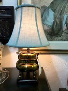 Antique floral painted table lamp on sale needs rewiring 23 tall antique brass incense burner repurposed as lamp on sale with soft green shade 22 tall keyboard keysfo Image collections