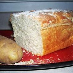 Potato Bread III Recipe - A freshly-mashed potato adds a robust quality to this yeast bread. High Altitude Baking, Irish Soda Bread Recipe, Dinner Today, Baked Rolls, Potato Bread, Easy Bread, Rolls Recipe, How To Make Bread, Bread Baking
