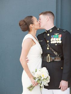 Love this military wedding!